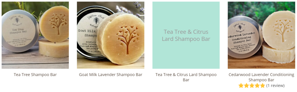 Shop our selection of all-natural handmade shampoo bars that are made without toxic ingredients such as those above.
