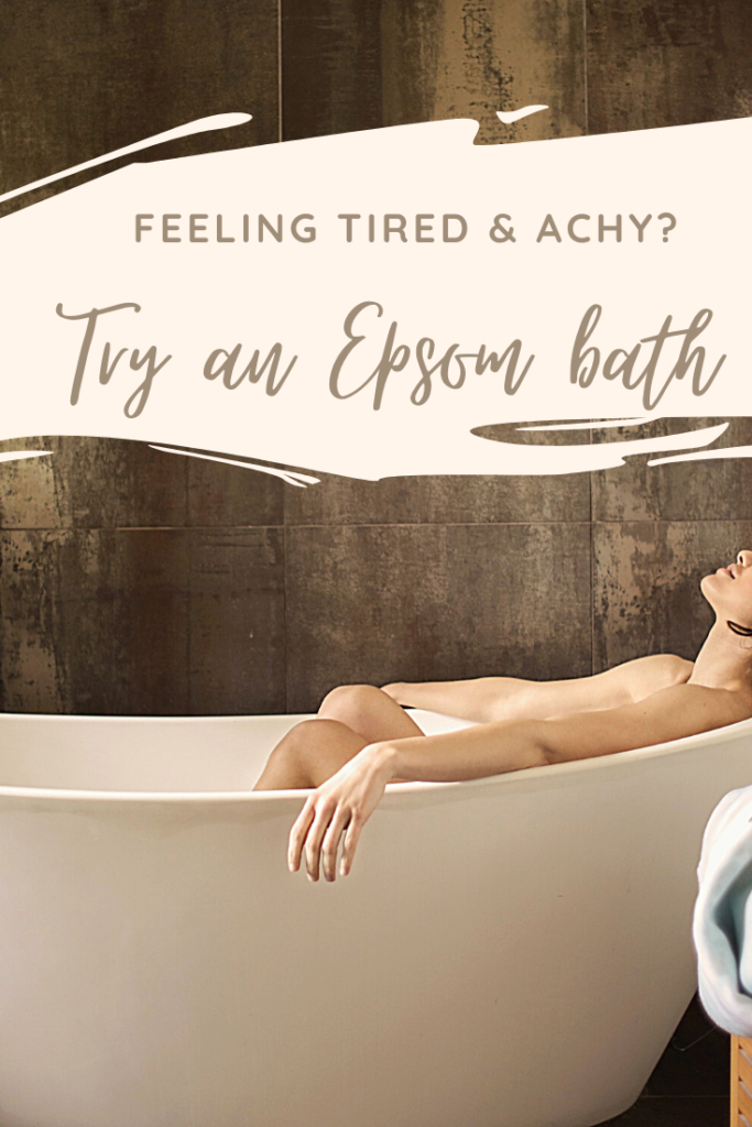 Try and Epsom bath to relieve tired eyes and achy muscles
